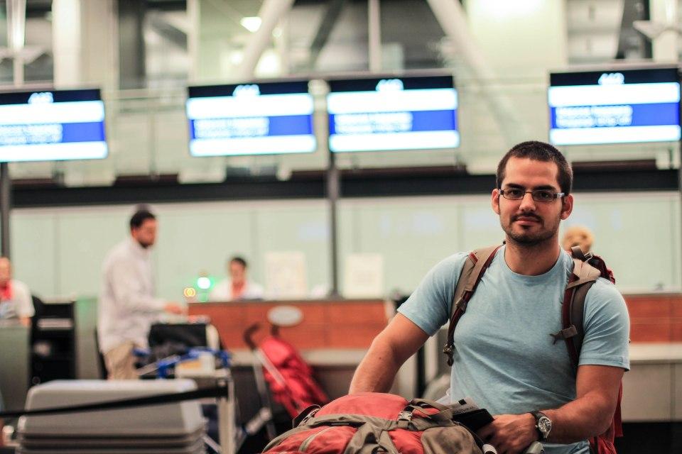 Francis à son départ de Montréal