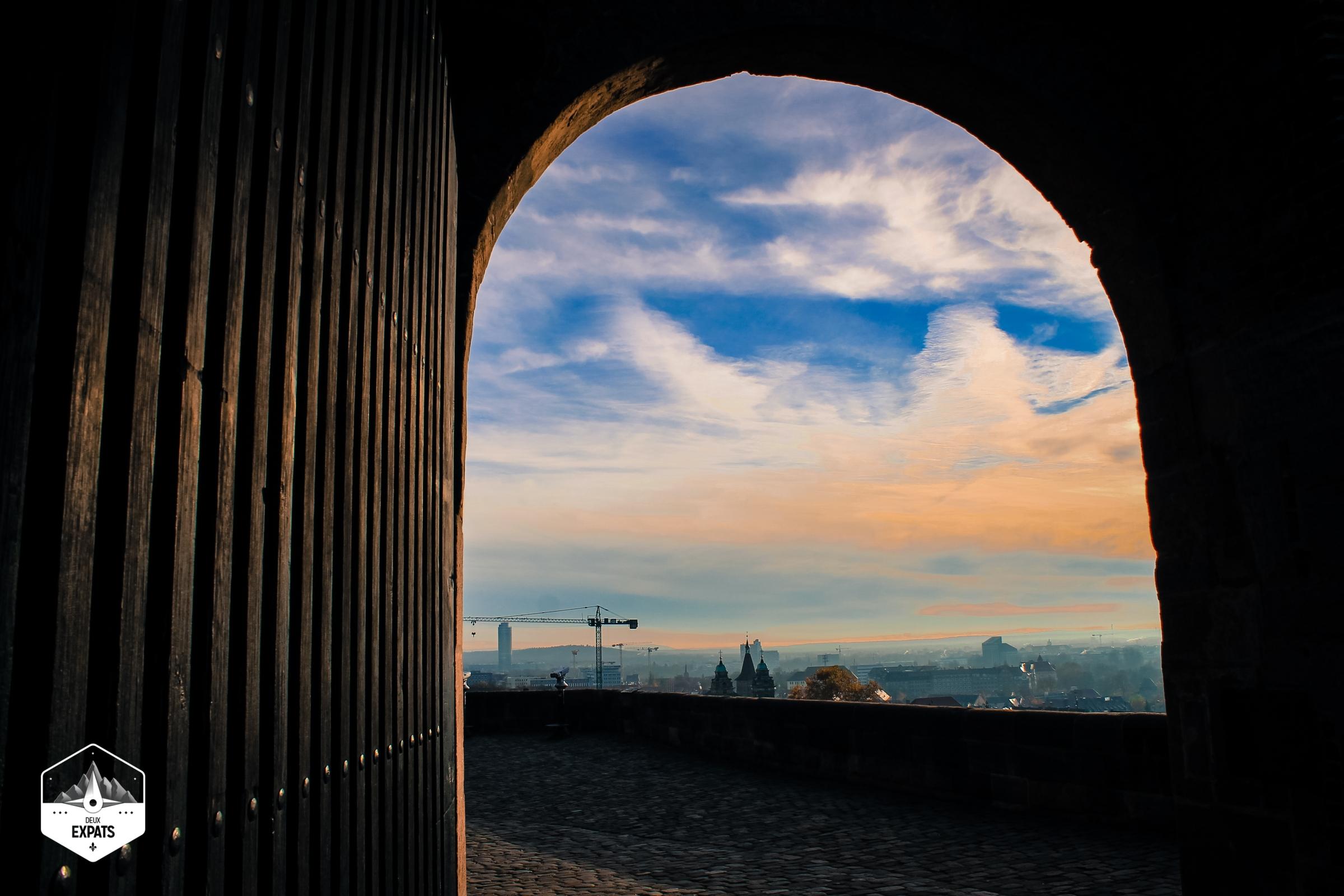 Nuremberg et le château de Kaiserburg, Bavière, Allemagne