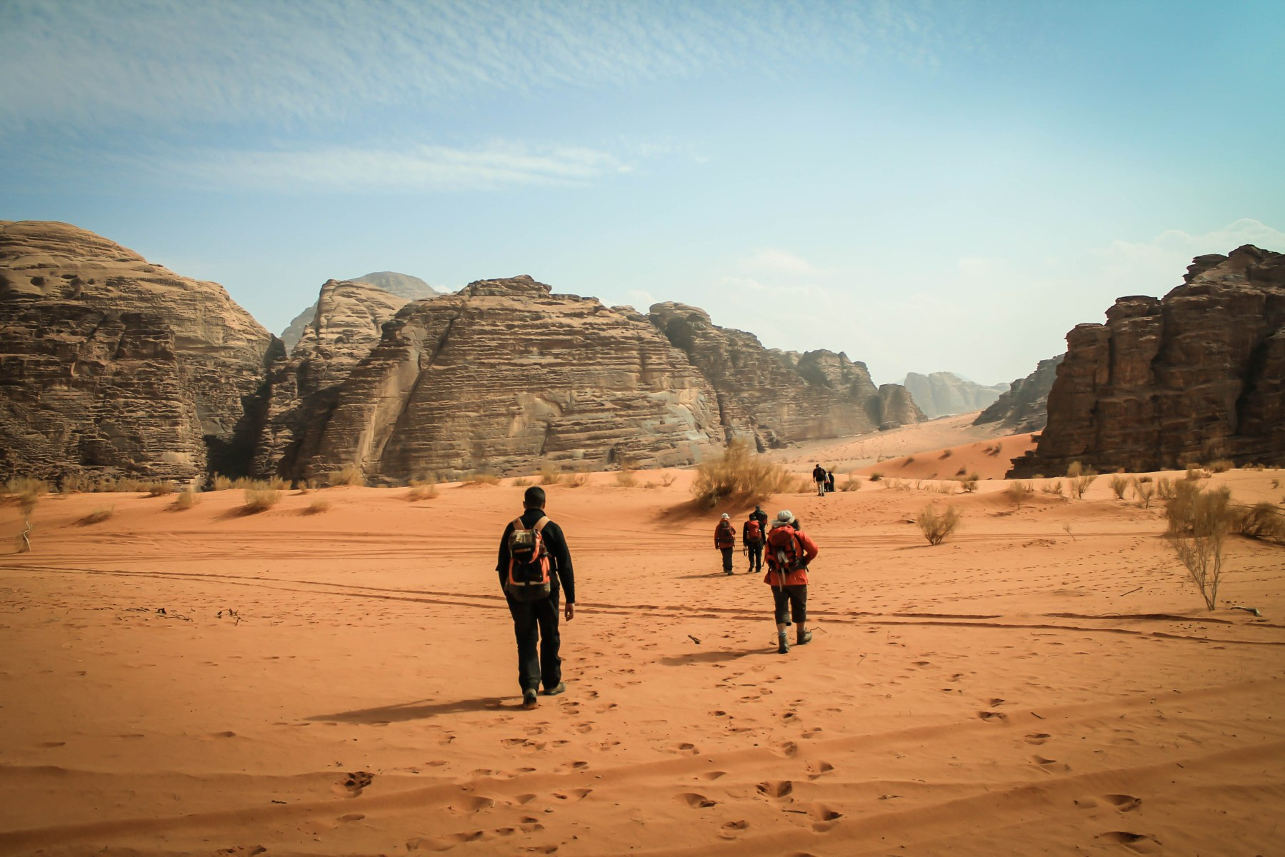 Trek dans le désert du Wadi Rum en Jordanie