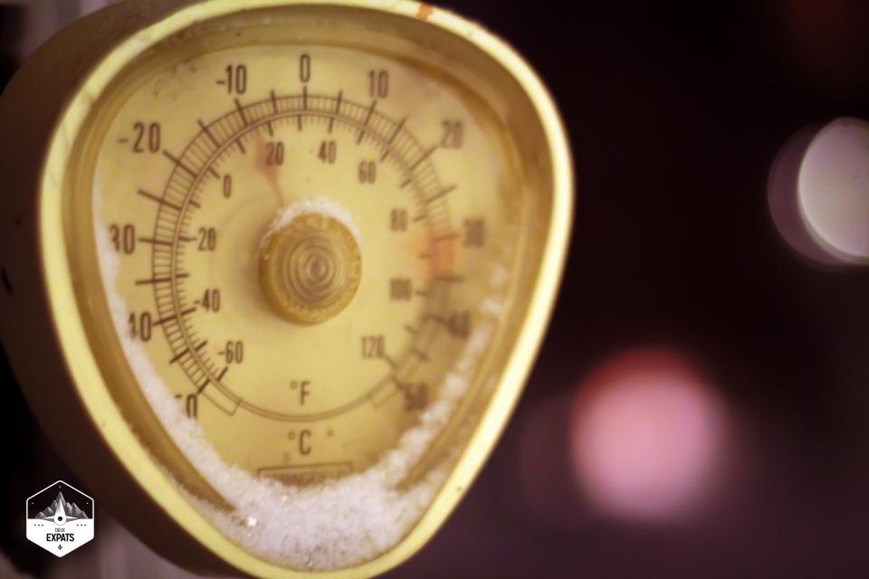 Thermomètre pendant l'hiver au Québec