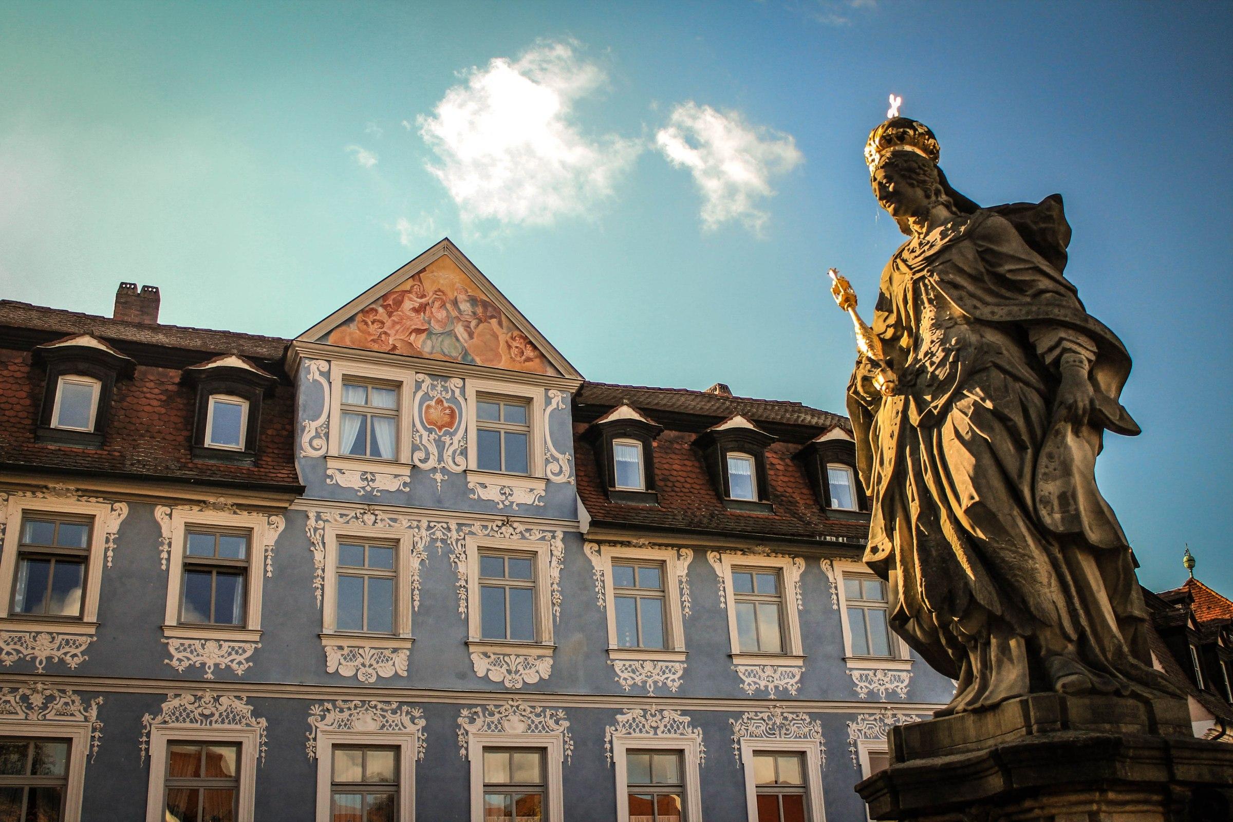 Statue de Sainte Cunégonde à Bamberg en Allemagne