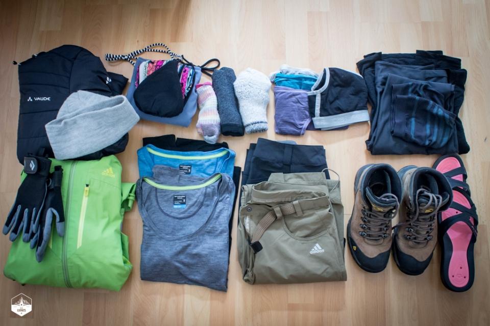 Vêtements de randonnée pour le GR20 en Corse