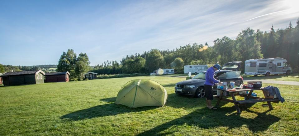 Terrain de camping en Norvège
