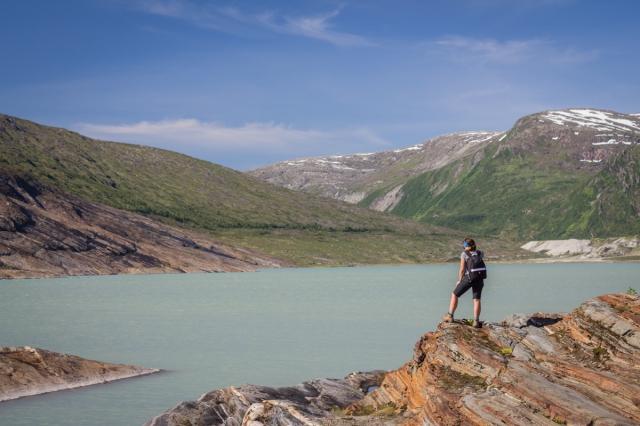 Randonnée Svartisen Norvège