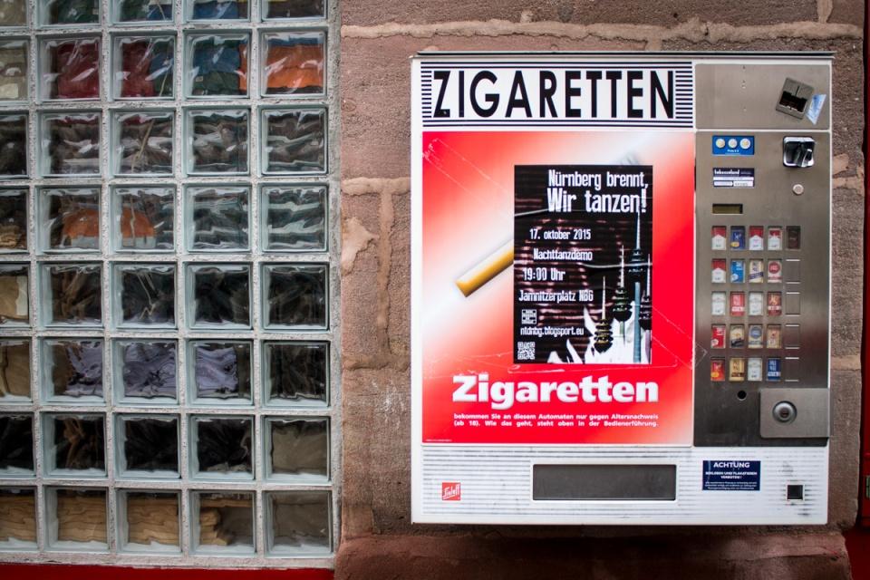 Distributrice à cigarettes en Allemagne