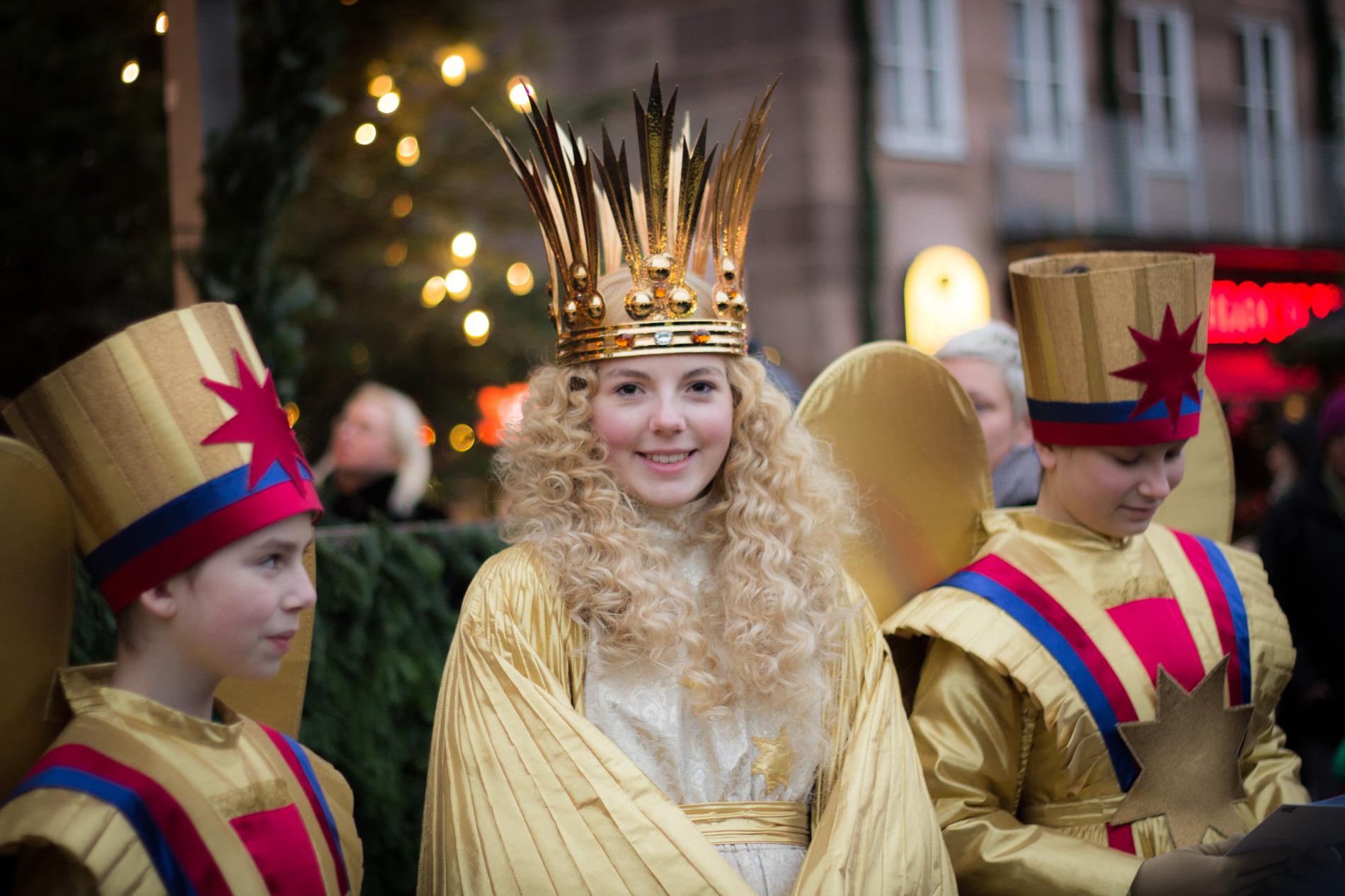 Christkind au Marché de Noël de Nuremberg