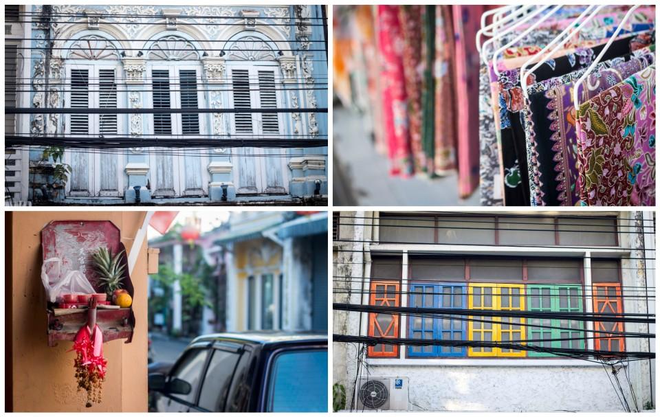Maisons colorées à Phuket town